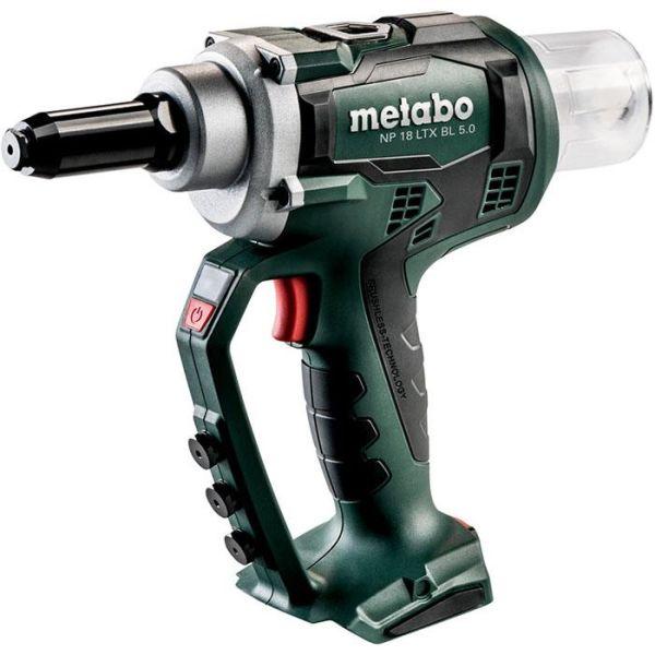 Nitpistol Metabo NP 18 LTX BL 5.0 utan batterier och laddare