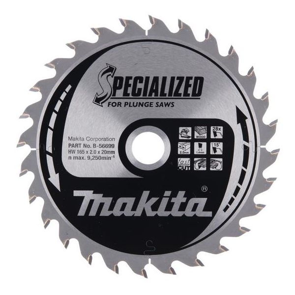Makita B-56699 Sågklinga 165×20 mm 28T
