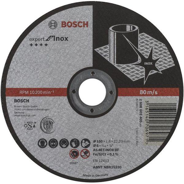 Kapskiva Bosch Expert for Inox 150x22,23mm