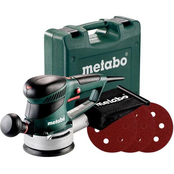 Excenterslip Metabo SXE 425 TURBOTEC SET med 12 slipark