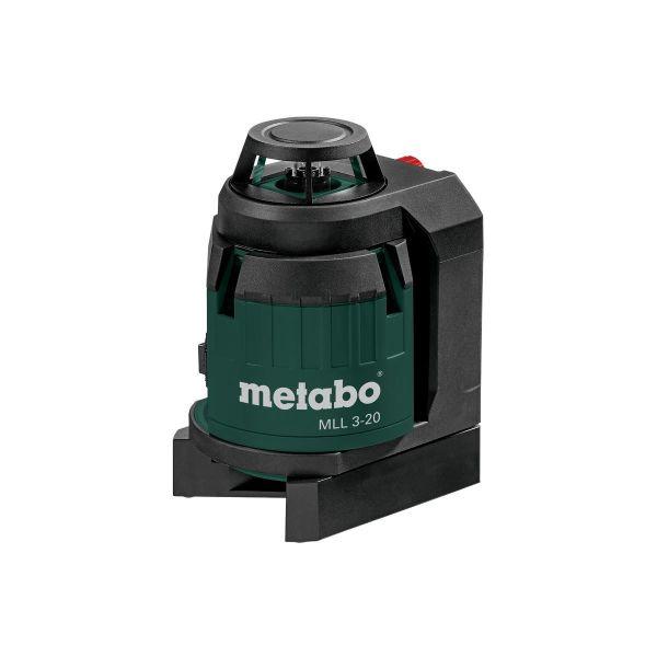 Krysslaser Metabo MLL 3-20 med 1,5 V batterier og koffert