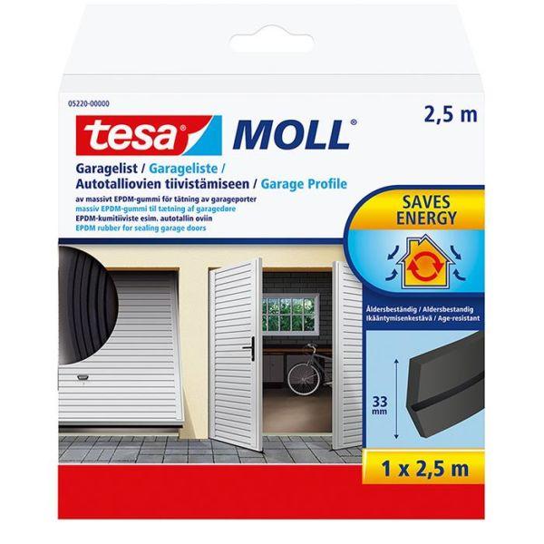 Garasjelist Tesa 05220-00000-01 EPDM, 2,5 m x 33 mm, svart