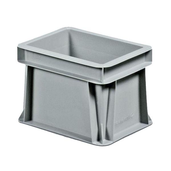 Kuljetuslaatikko Schoeller Allibert Euroback 6496 harmaa, ilman tarttumisaukkoja 200x150x145 mm