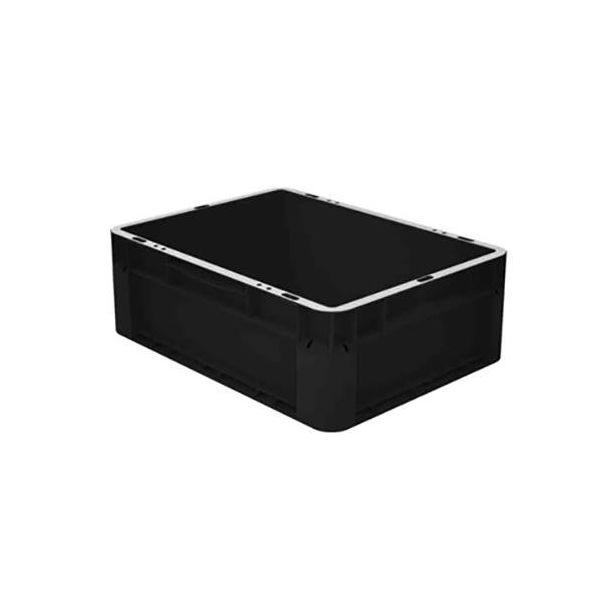 Kuljetuslaatikko Schoeller Allibert Euroclick 8301 400x300x145 mm Musta, valmistettu kierrätysmateriaaleista
