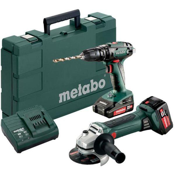 Verktygspaket Metabo SB 18 + W 18 LTX 125 QUICK med batterier och laddare