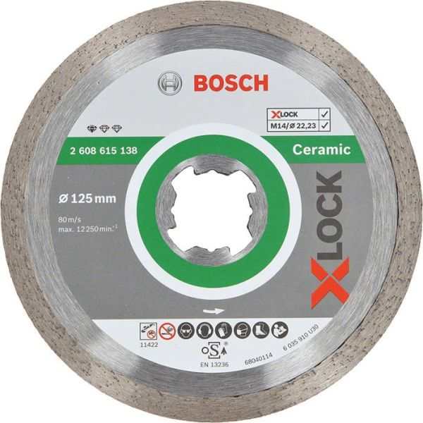 Bosch Standard for Ceramic Diamantkapskiva med X-LOCK 125 × 2223 × 16 x 7 mm