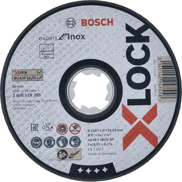 Kapskiva Bosch Expert for Inox med X-LOCK 115 × 1,6 × 22,23 mm