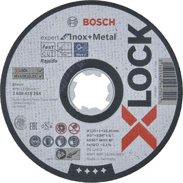 Katkaisulaikka Bosch Expert for Inox + Metal X-LOCK 115 × 1 × 22,23 mm
