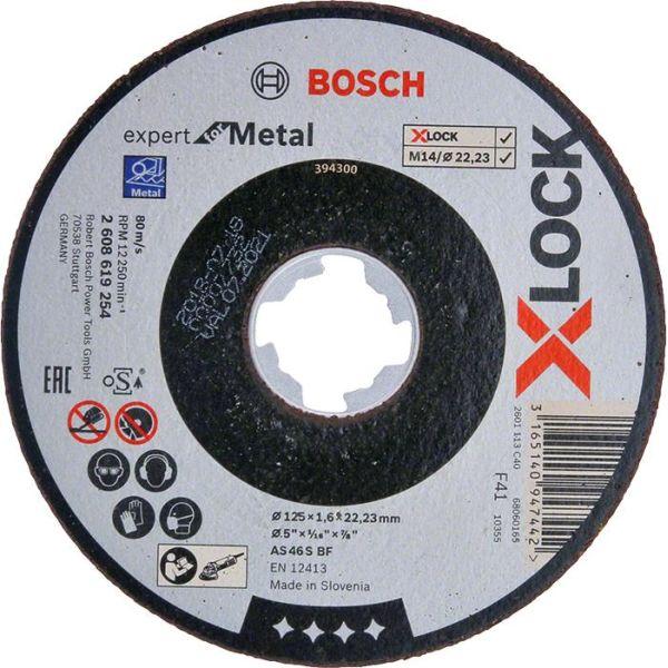 Bosch Expert for Metal Kapskiva med X-LOCK rak sågning 125 × 16 × 2223 mm