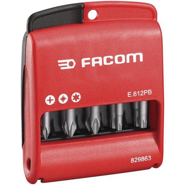 Facom E.612PB Bitssats i etui 10 st Insex