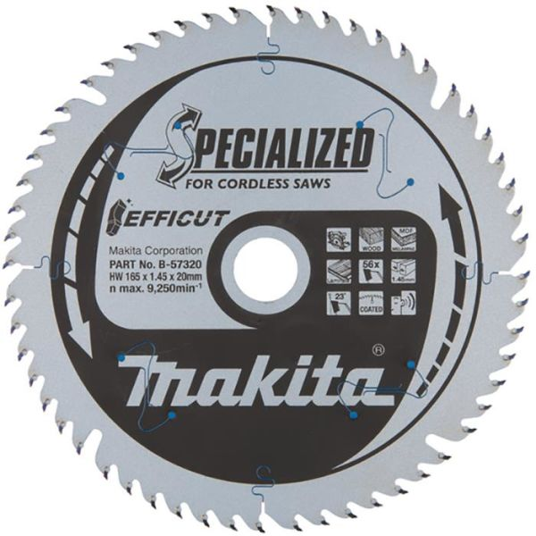 Sirkelsagblad Makita B-57320 Efficut, Ø 165 mm