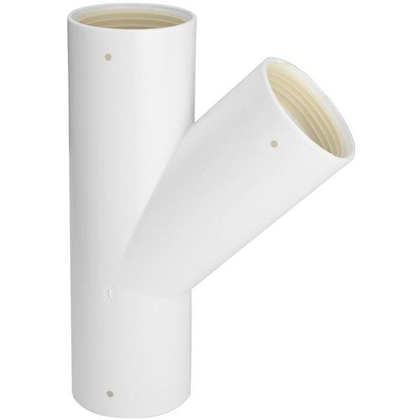 Grenrör Faluplast 3003054232 med gummitätning, 45 mm, 45°