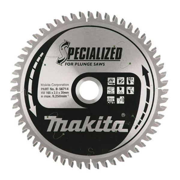 Makita B-56714 Sågklinga 165 mm 56T