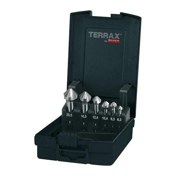 Forsenkersett Ruko A102152RO 6 deler, plastkassett Terrax