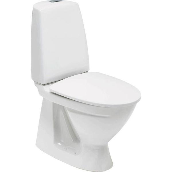 Toalettstol Ifö Sign 6860 med S-lås, dobbeltspyling, for liming