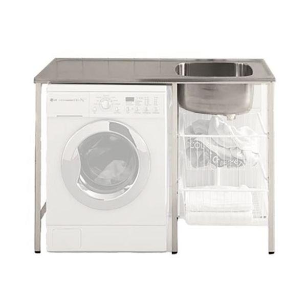Tvättbänk Contura CABM 12 RM monterad, med plats för tvättmaskin