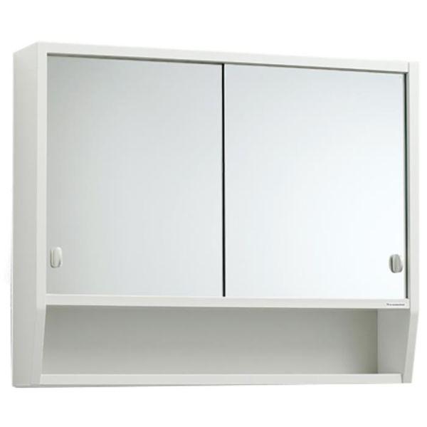 Svedbergs Tvilling 65 Badrumsskåp trä vit med spegel
