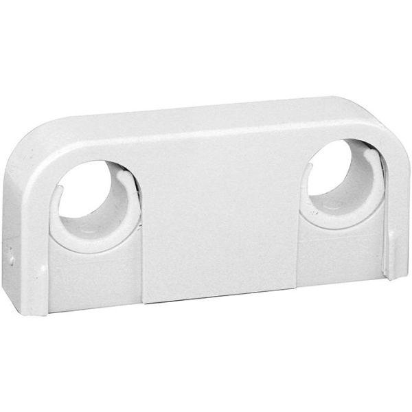 Rörklammer Faluplast 14020 dubbel, med snäpplock, 18-22 mm