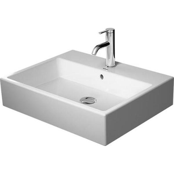 Tvättställ Duravit Vero Air med breddavlopp och ett blandarhål 600 x 470 mm