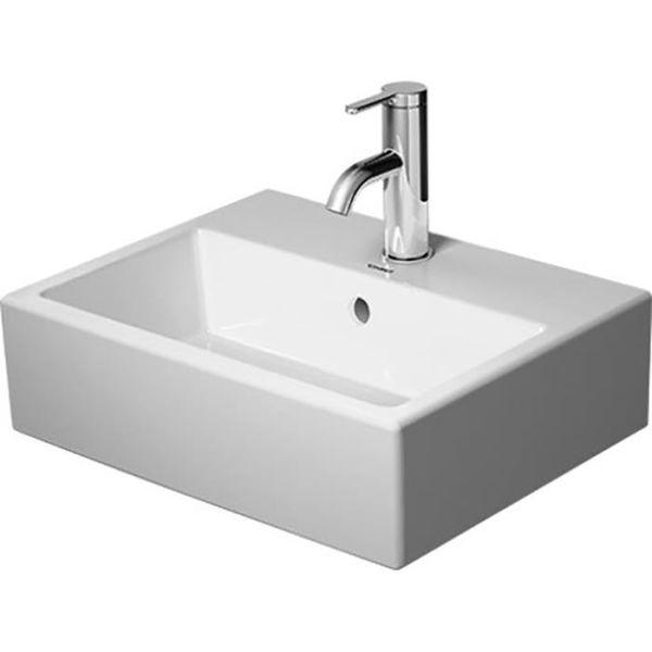 Tvättställ Duravit Vero Air med breddavlopp och ett blandarhål 450 x 350 mm