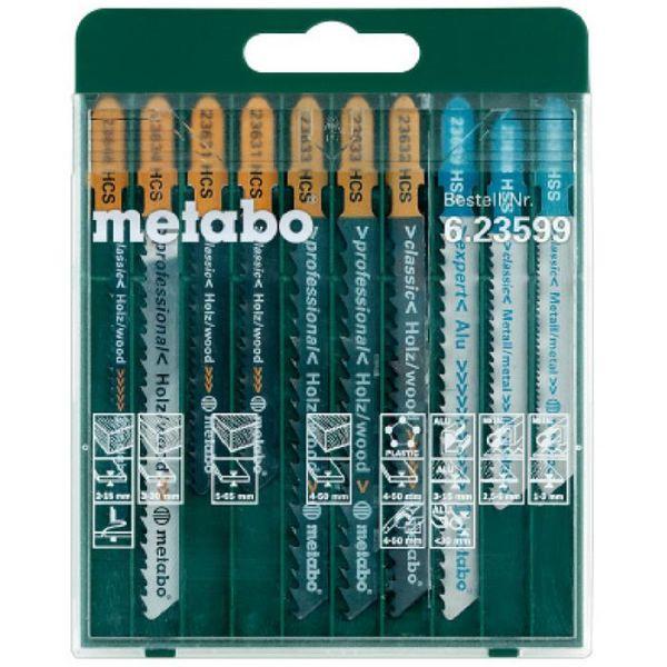 Stikksagbladsett Metabo 623599000 10 deler