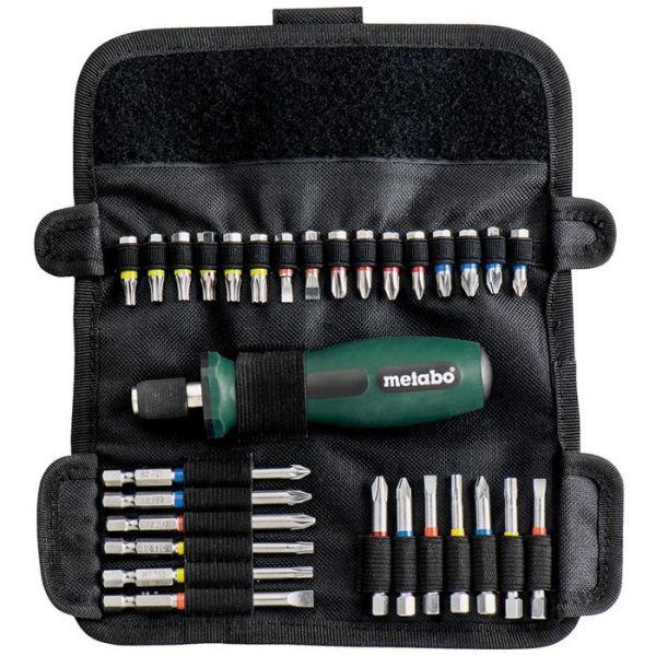 Bitssats Metabo 626726000 30 delar, med handtag och väska