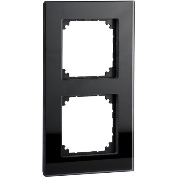 Ram Schneider Electric Exxact Solid glas, svart 2 fack