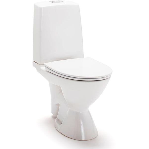 Toalettstol IDO Glow Rimfree 3756301101 med mjuksits, avl. höger