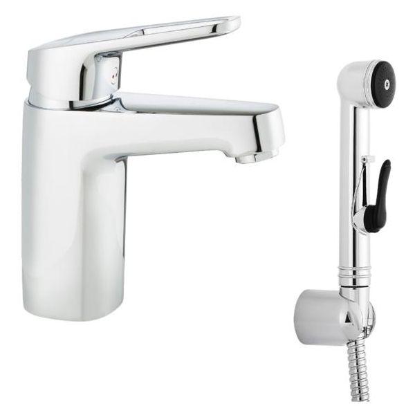 Tvättställsblandare FM Mattsson Siljan 83570000 med handdusch, utan bottenventil