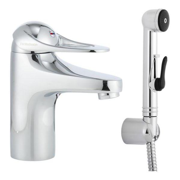 FM Mattsson 9000E 80670000 Tvättställsblandare med handdusch utan bottenventil