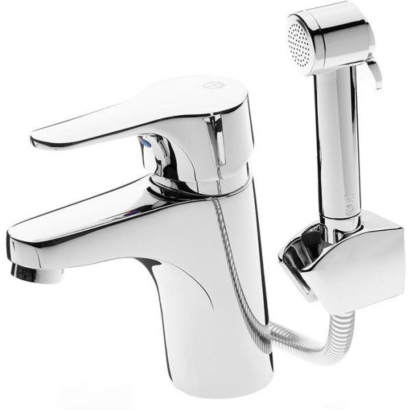 Tvättställsblandare Gustavsberg Nautic GB41214147 med sidodusch, utan lyftventil