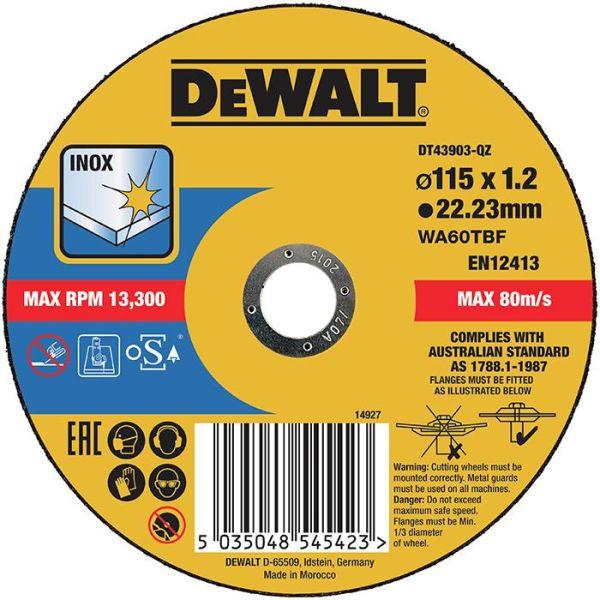 Katkaisulaikka Dewalt DT43903 thin cutting 115 x 1,2 mm