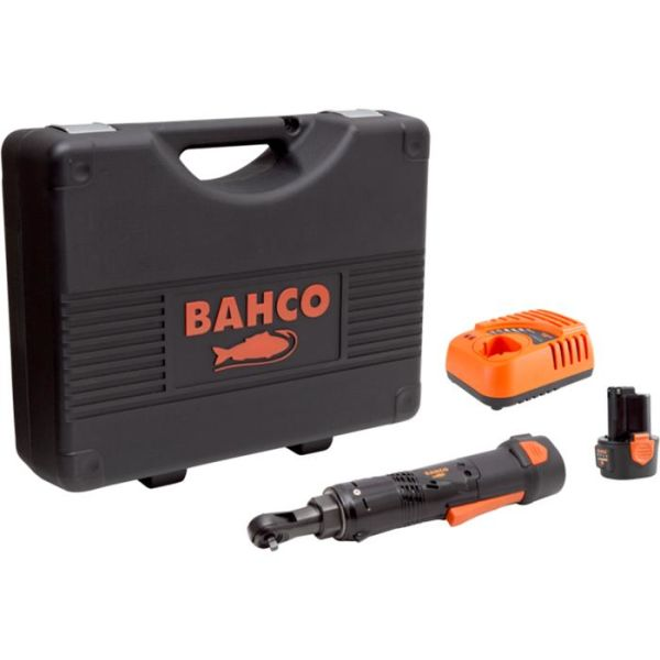 Skrallehåndtak Bahco BCL31R1K1 med 2,0Ah-batterier og lader