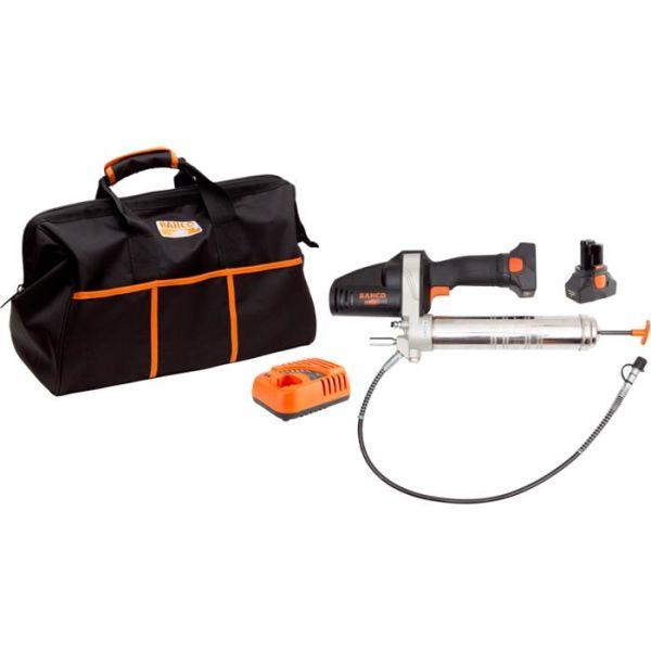 Fettsprøyte Bahco BCL32G1K1 med 2,0Ah-batterier og lader