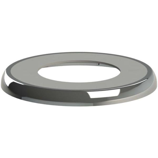 Vulkbricka Faluplast 51005 för rör och muff, krom För rör dy. 28-38 mm