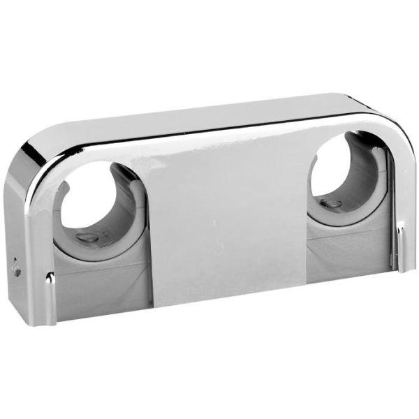 Rörklämma Faluplast Snap 14025 dubbel, 18-22 mm, krom