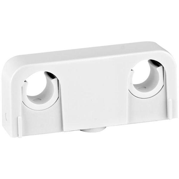 Rörklämma Faluplast Snap 14080 dubbel, 16/20 mm, vit
