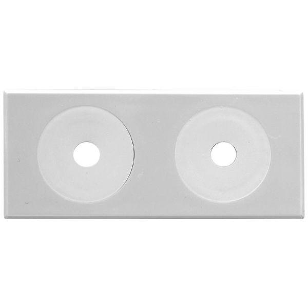Vulkbricka Faluplast 50430 självhäftande, 12-16 mm, 10-pack Dubbel, vit