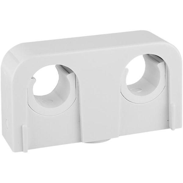 Rörklämma Faluplast Snap 14090 dubbel, 16/20 mm, vit