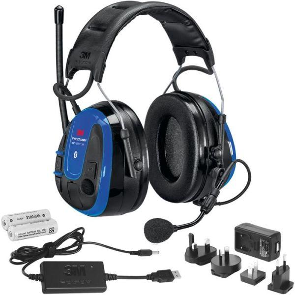 Hörselskydd 3M Peltor WS Alert XPI Bluetooth, hjässbygel, laddpaket