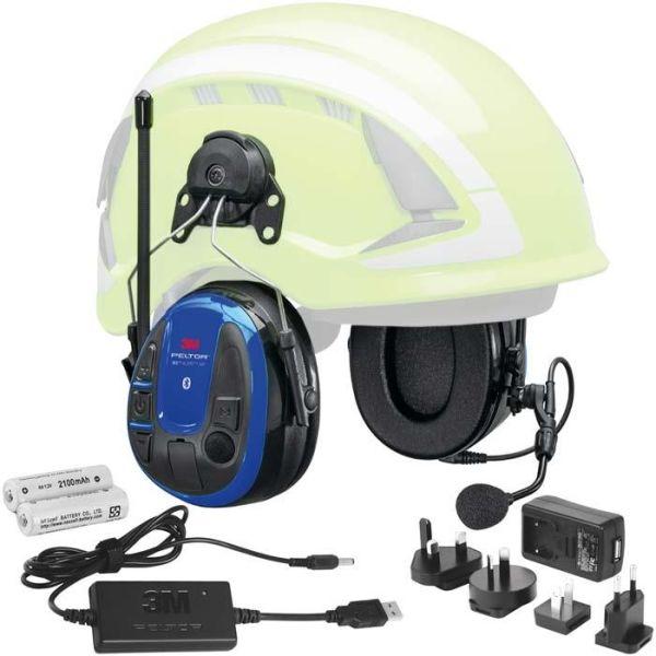 Kuulonsuojain 3M Peltor WS Alert XPI Bluetooth, sovellus, kypäräkiinnike, laturi