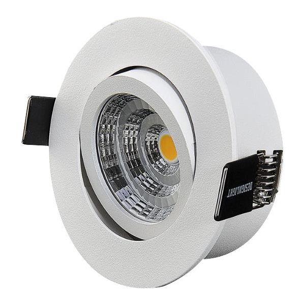 Downlight-valaisin Designlight Q-1MW kuristimella, 3000 K, kallistus