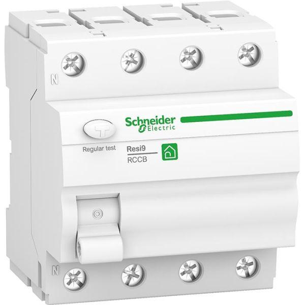 Jordfelsbrytare Schneider Electric Resi9 4-pol, 25 A