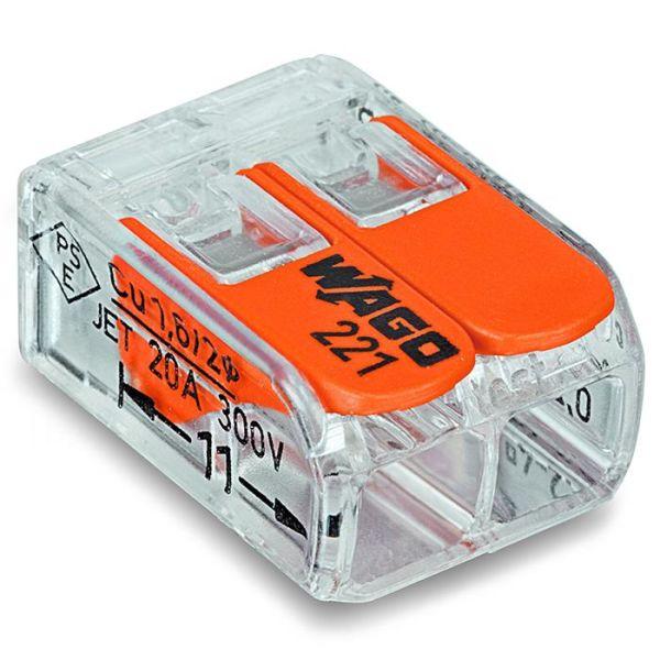 Kopplingsklämma Wago 221-412 2-pol, 100-pack