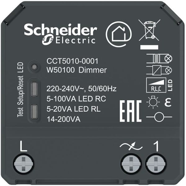 Puckdimmer Schneider Electric Exxact Wiser LED med Bluetooth-styrning