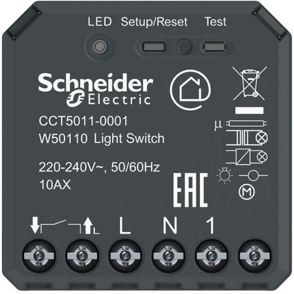 Puckströmställare Schneider Electric Exxact Wiser med Bluetooth