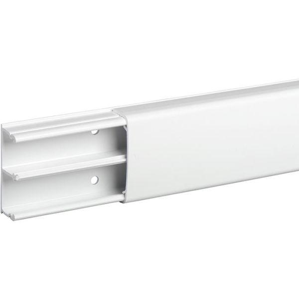 Minikanava Schneider Electric Optiline 1845 PVC, 18 x 45 mm, valkoinen