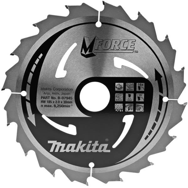 Kuva Makita B-07945 Pyörösahanterä 180 x 30 mm, varten puulle