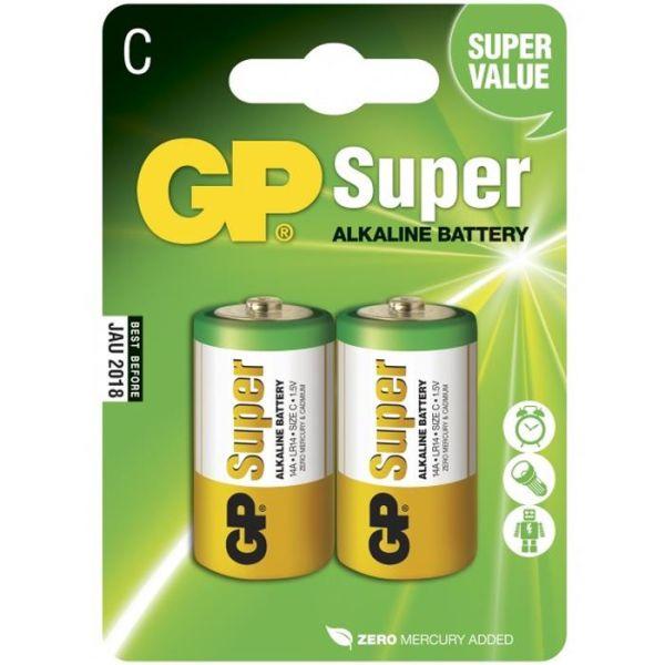 Alkaliska batterier GP Batteries Super Alkaline 14A-U2/LR14 C, 2-pack