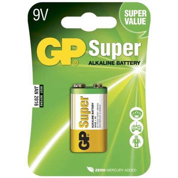 Alkalisk batteri GP Batteries Super Alkaline 1604A-U1/6LF22 9 V